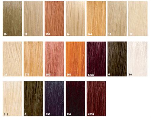Couleur cheveux naturelle liste